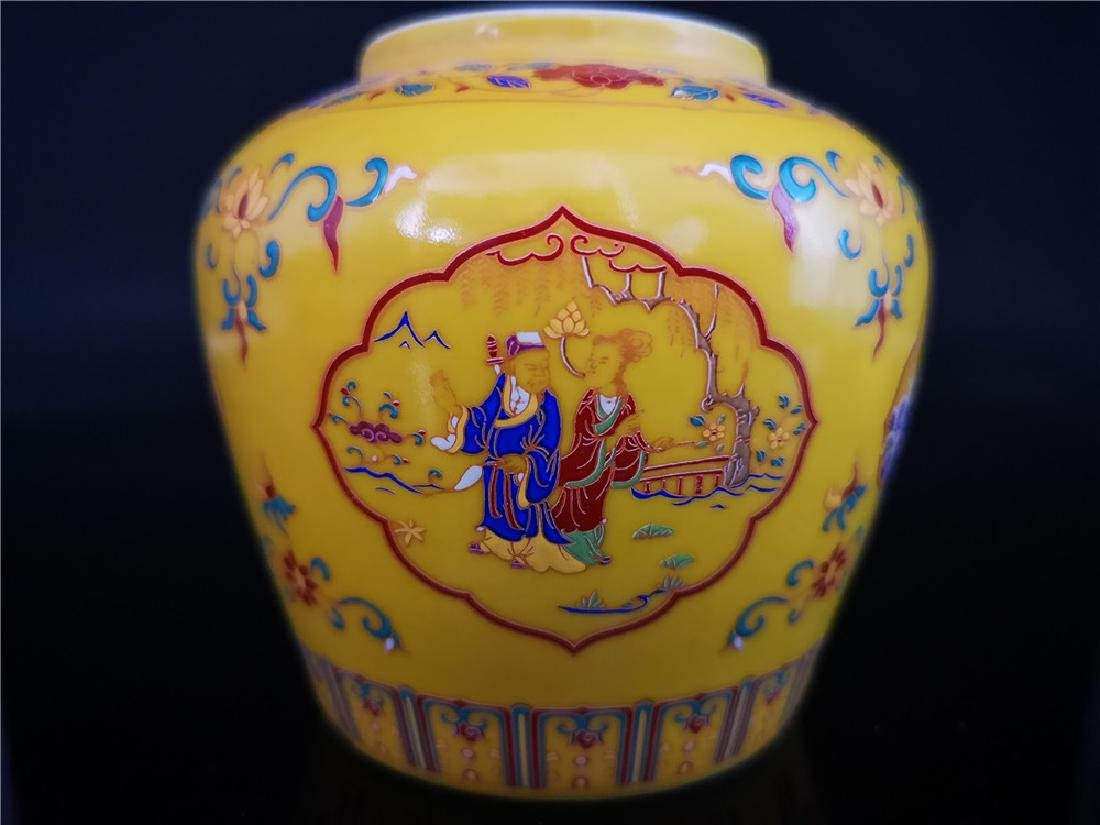 Pair of Chinese Doucai Porcelain Jars - 2