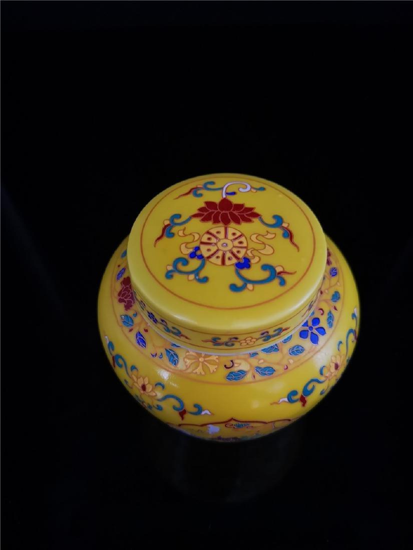 Pair of Chinese Doucai Porcelain Jars - 5