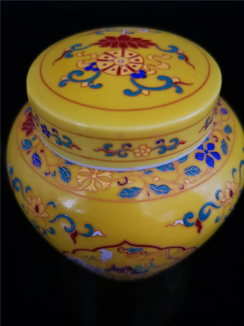 Pair of Chinese Doucai Porcelain Jars - 6