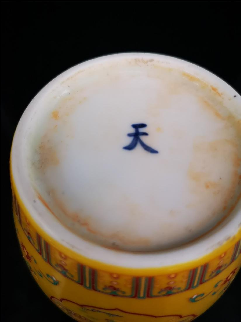 Pair of Chinese Doucai Porcelain Jars - 9