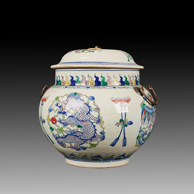 Chinese Doucai Porcelain Ginger Jar - 2