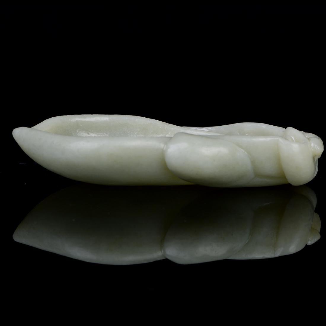 Chinese  Pale Celadon Jade Melon type  Brush Wash