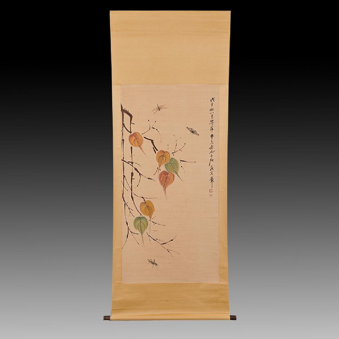 Chinese Scroll Painting,Qi baishi(1864-1957)
