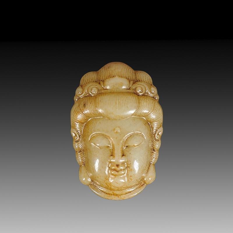 Chinese  Hetian Jade  Buddha  Head