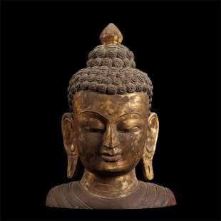 Chinese Stone Buddha Statue  Head