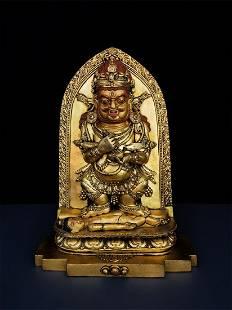 Chinese Gilt Bronze Guanyin Bodhisattva Buddha Statue