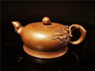 Chinese Zisha Teapot and Cover.(Mark of Xu Hantang)