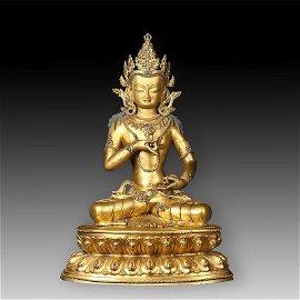 Chinese Qing Dynasty Tibetan Bronze Buddha