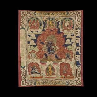 Chinese Qing Dynasty Painting Buddhist Thangka
