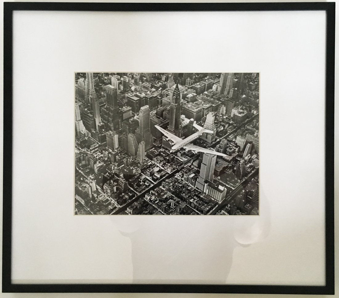 Margaret Bourke-White: DC-4 Flying over NYC