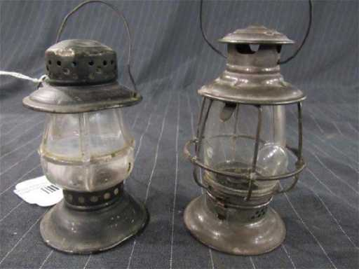 Two Small Whale Oil Lanterns Placeholder