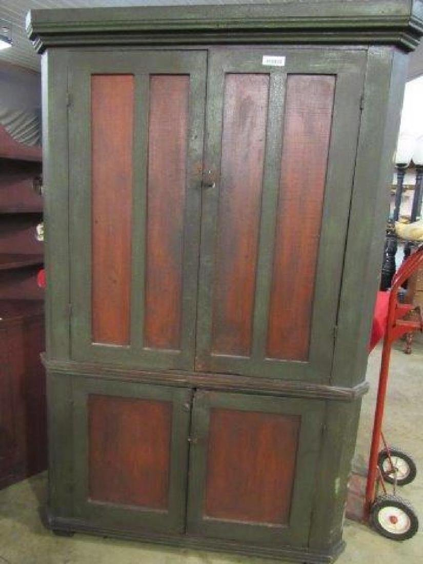 Awesome Primitive Painted Corner Cabinet Feb 02 2019 Atlee