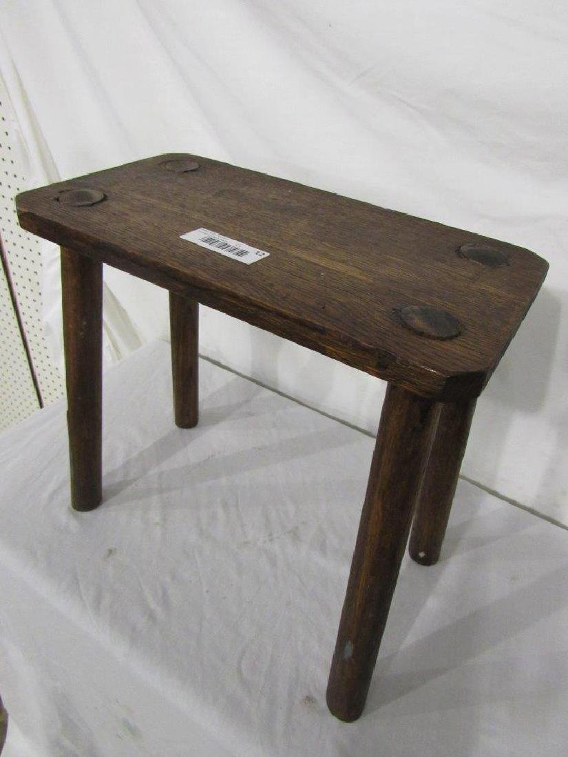 Oak four-legged bench/stool