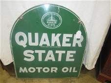 DST Quaker State motor oil tombstone sign