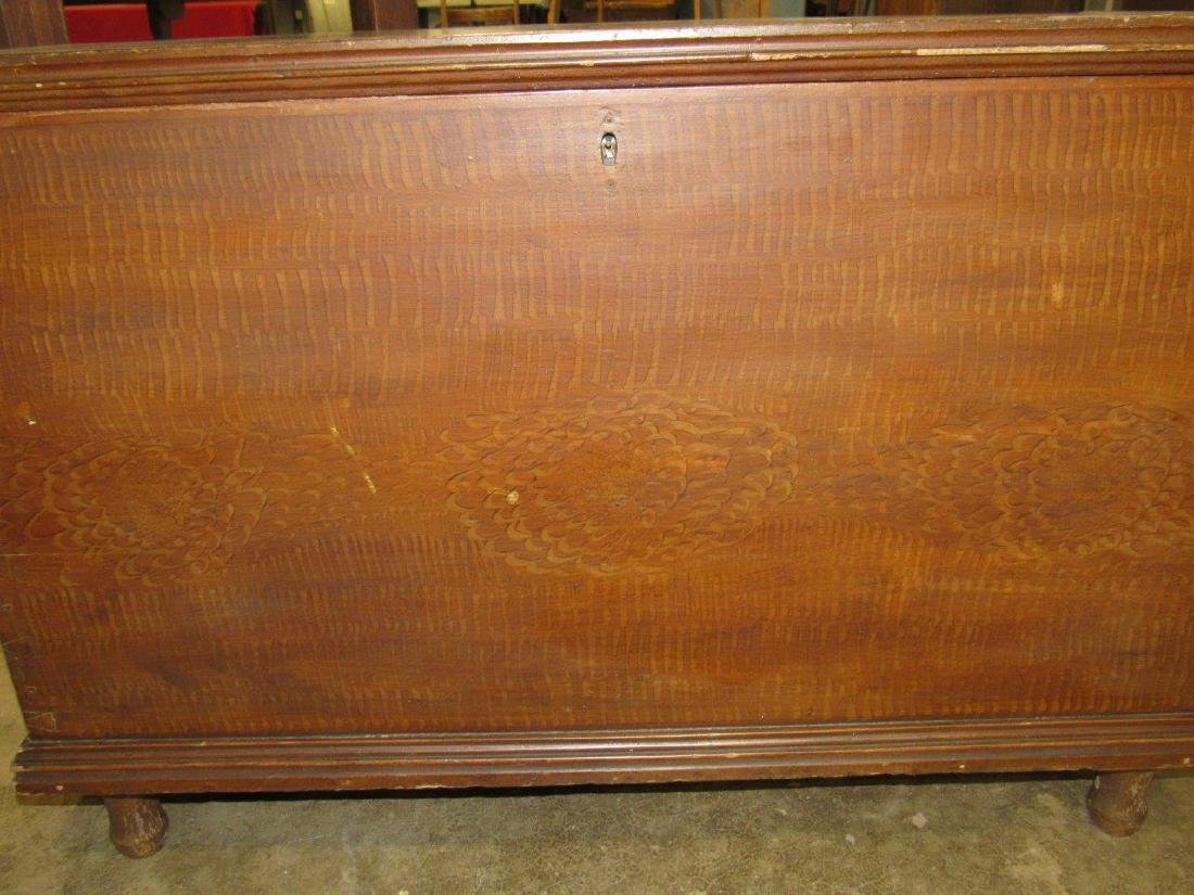 Early grain painted blanket chest - 4