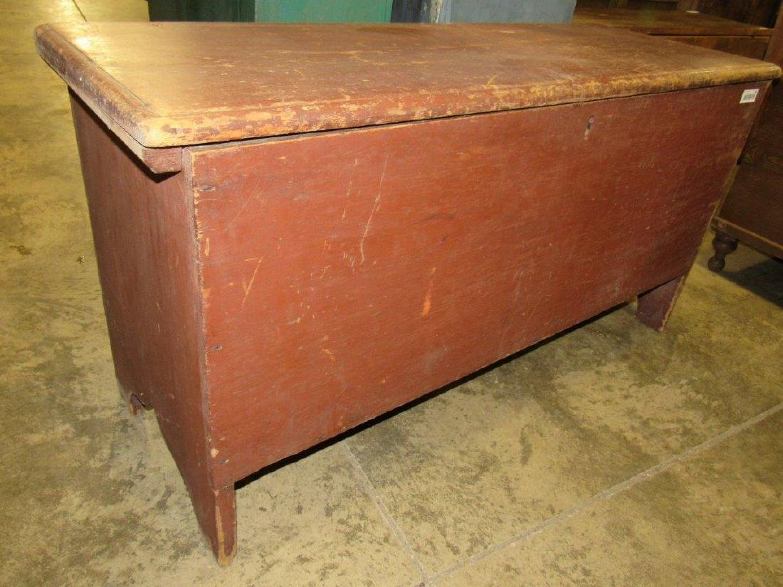 Awesome early red painted blanket chest