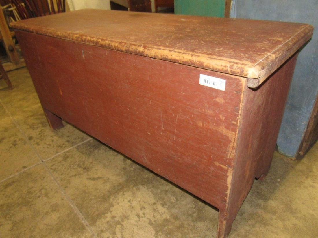 Awesome early red painted blanket chest - 2
