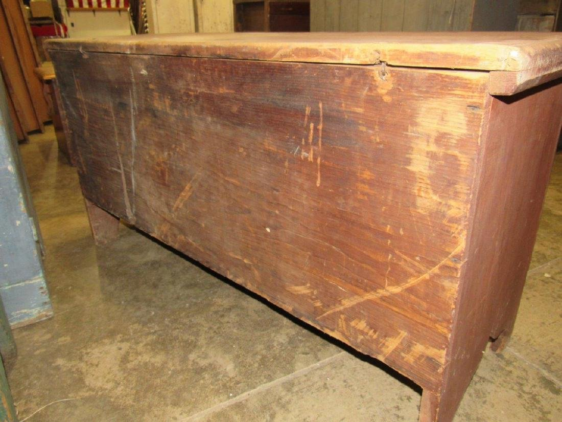 Awesome early red painted blanket chest - 5