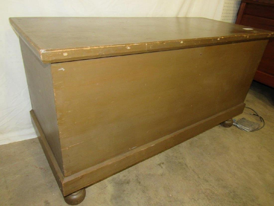 Painted dovetailed footed blanket chest