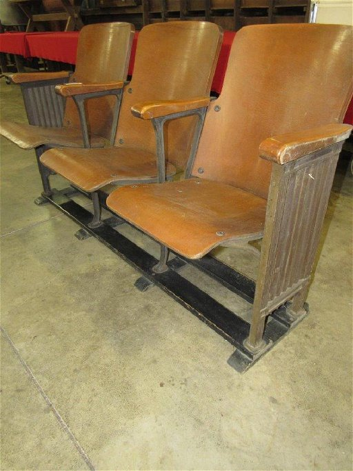Pleasant 3 Seated Folding Theater Bench Caraccident5 Cool Chair Designs And Ideas Caraccident5Info