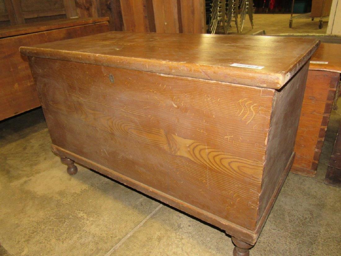 Primitive grain painted blanket chest