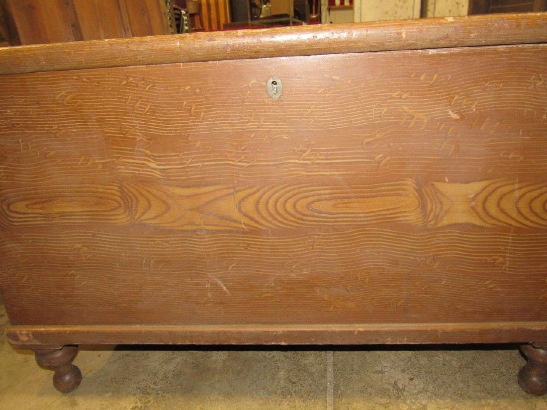 Primitive grain painted blanket chest - 3