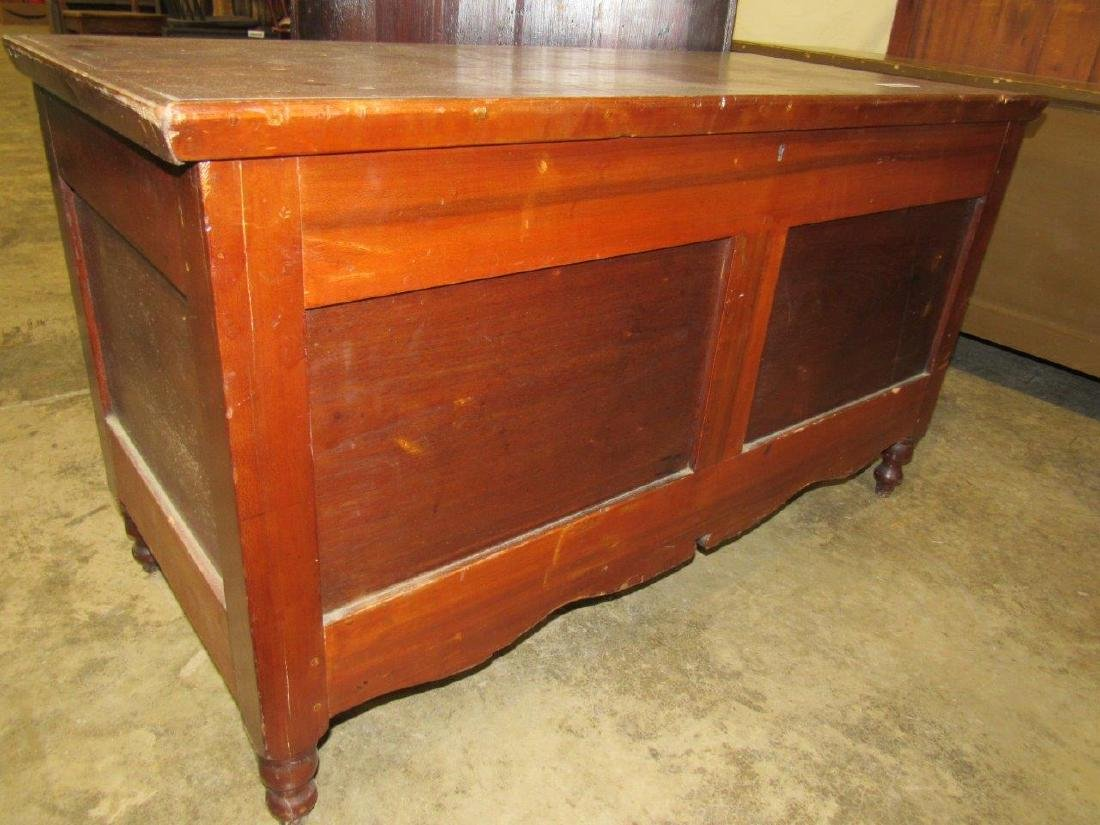 Early footed blanket chest
