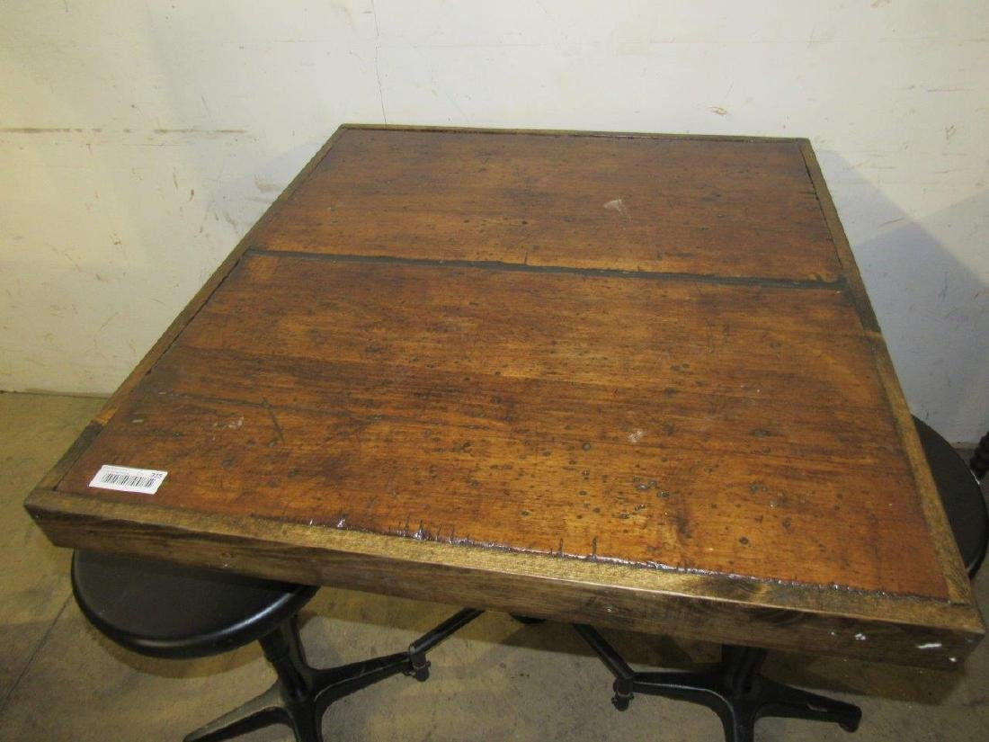 Industrial table & bar stools - 2