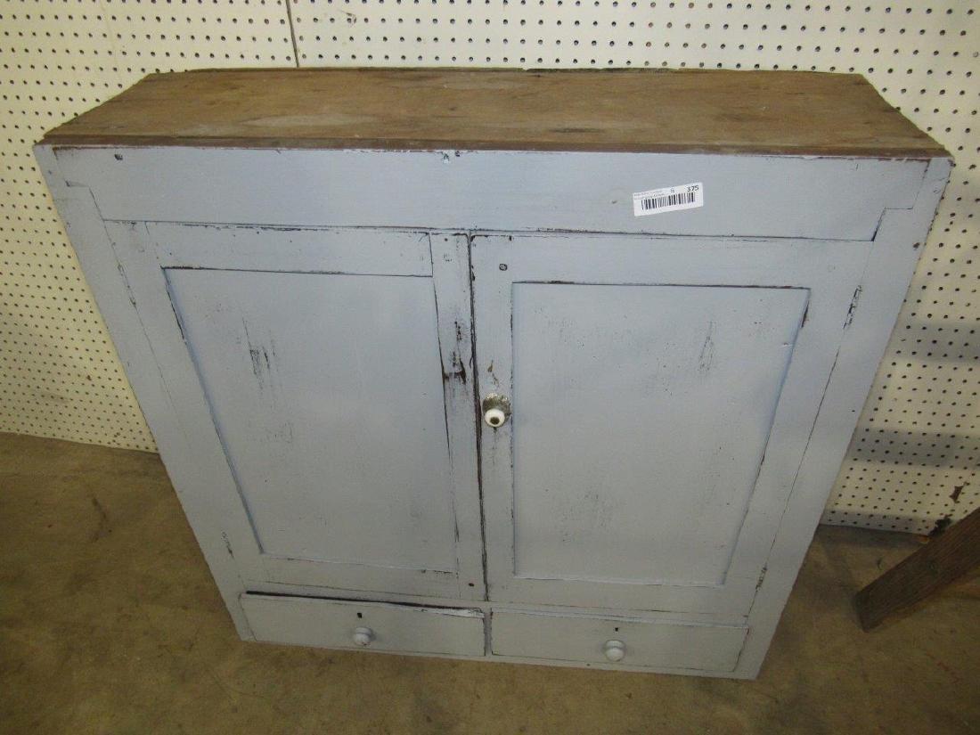 Primitive painted cupboard top - 2