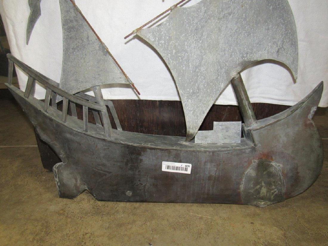 Copper sailboat weathervane topper - 2