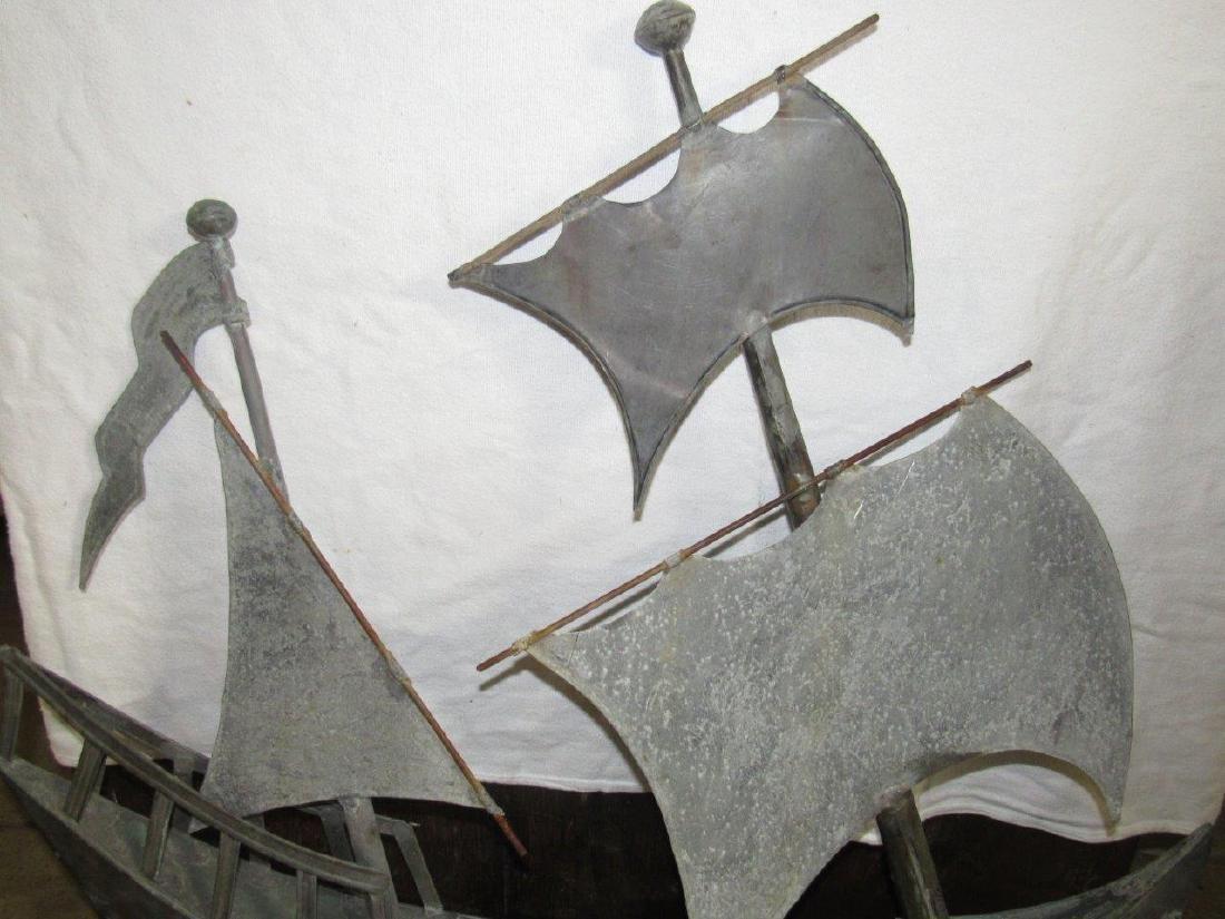 Copper sailboat weathervane topper - 3