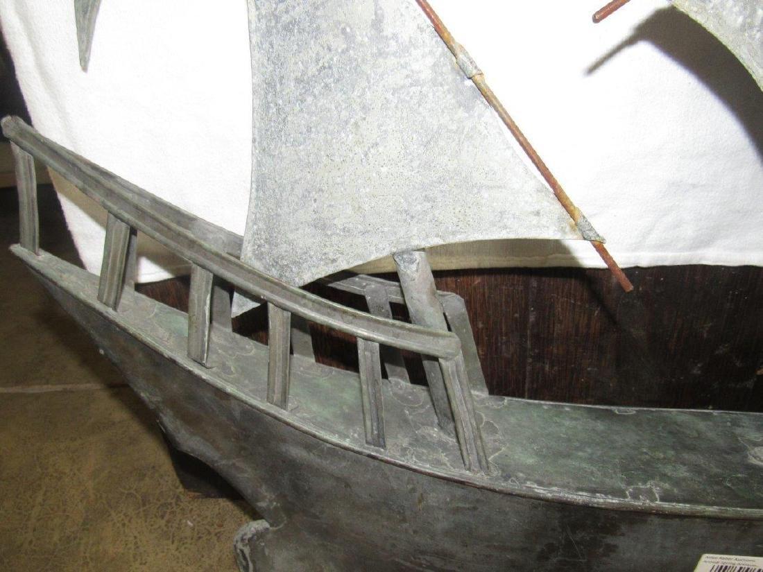 Copper sailboat weathervane topper - 4