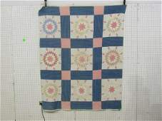 Vintage sunburst star quilt