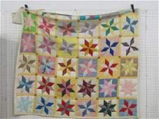 Vintage star patch quilt