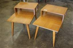 Pair of Conant Ball mid century modern end tables