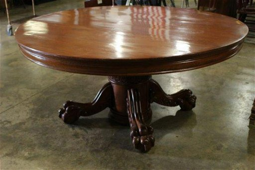 Mive Early American Oak Claw Foot Table