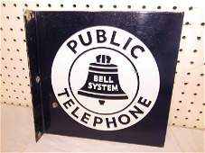 DSP Bell System Public Telephone Flange Sign
