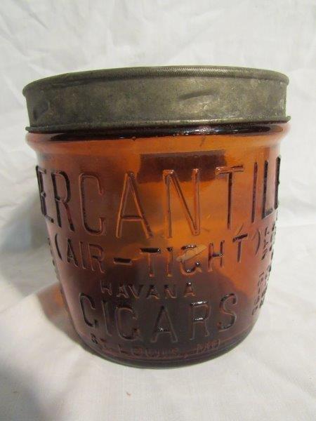 Amber F.R. Rice Mercantile Cigar Jar