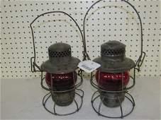 2- Adlake Railroad Lanterns