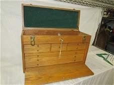 Nice oak machinist chest