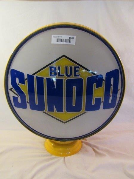 Blue Sunoco Gas Pump Globe