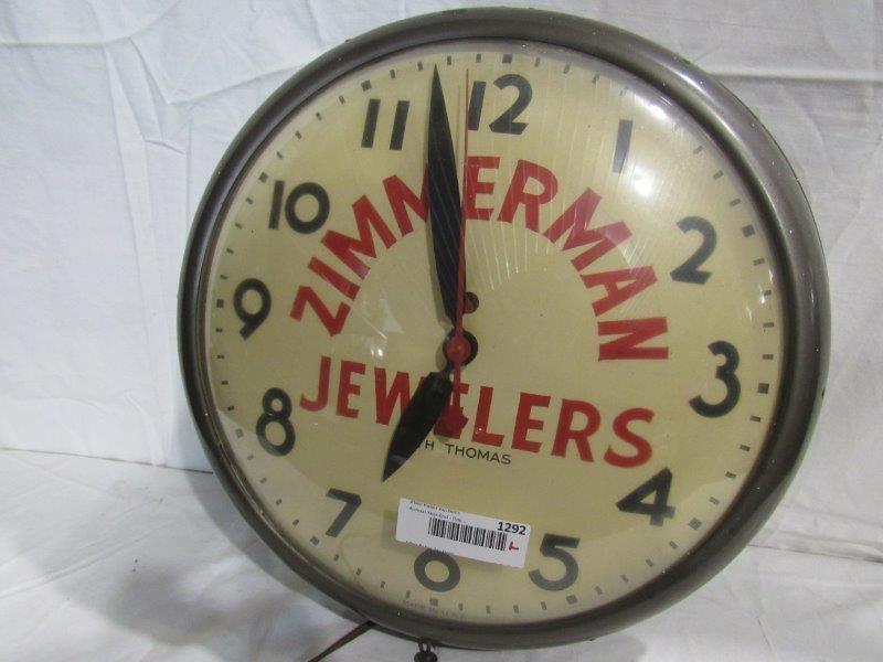 Zimmerman Jewelers Seth Thomas clock