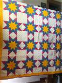 Tri-colored star quilt