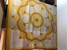 Vintage gold star quilt