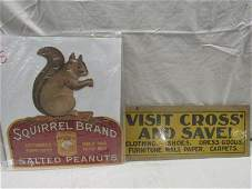 2- small cardboard advertising pieces