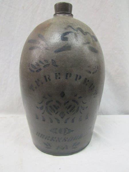 T. F. Reppert 2 gal. decorated stoneware jug