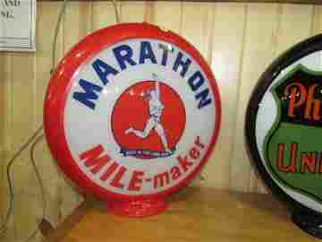 Marathon MILE-maker Running Man Globe
