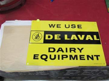 SST Delaval Dairy Equipment sign NOS
