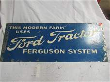 SST Ford Tractor Ferguson System sign