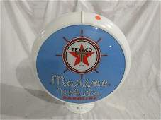 Single Texaco Marine White gasoline lense in a